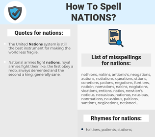nations, spellcheck nations, how to spell nations, how do you spell nations, correct spelling for nations