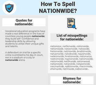 nationwide, spellcheck nationwide, how to spell nationwide, how do you spell nationwide, correct spelling for nationwide
