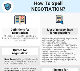 negotiation, spellcheck negotiation, how to spell negotiation, how do you spell negotiation, correct spelling for negotiation