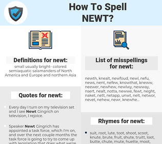 newt, spellcheck newt, how to spell newt, how do you spell newt, correct spelling for newt