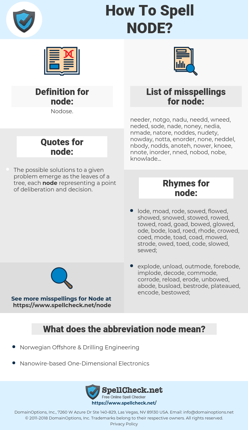 node, spellcheck node, how to spell node, how do you spell node, correct spelling for node
