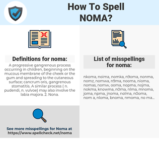 noma, spellcheck noma, how to spell noma, how do you spell noma, correct spelling for noma