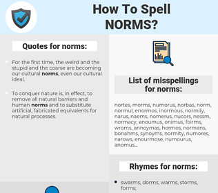 norms, spellcheck norms, how to spell norms, how do you spell norms, correct spelling for norms