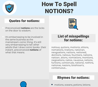 notions, spellcheck notions, how to spell notions, how do you spell notions, correct spelling for notions