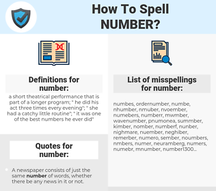 number, spellcheck number, how to spell number, how do you spell number, correct spelling for number