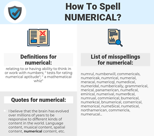 numerical, spellcheck numerical, how to spell numerical, how do you spell numerical, correct spelling for numerical