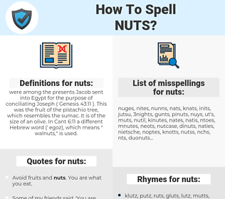 nuts, spellcheck nuts, how to spell nuts, how do you spell nuts, correct spelling for nuts