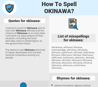 okinawa, spellcheck okinawa, how to spell okinawa, how do you spell okinawa, correct spelling for okinawa