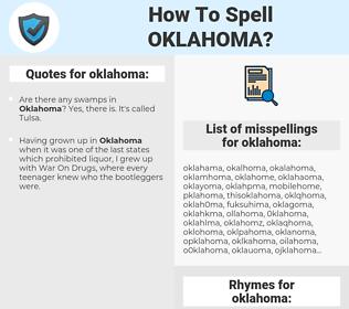 oklahoma, spellcheck oklahoma, how to spell oklahoma, how do you spell oklahoma, correct spelling for oklahoma