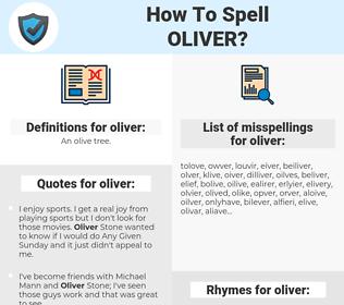 oliver, spellcheck oliver, how to spell oliver, how do you spell oliver, correct spelling for oliver