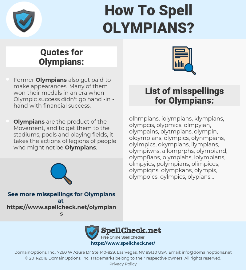 Olympians, spellcheck Olympians, how to spell Olympians, how do you spell Olympians, correct spelling for Olympians
