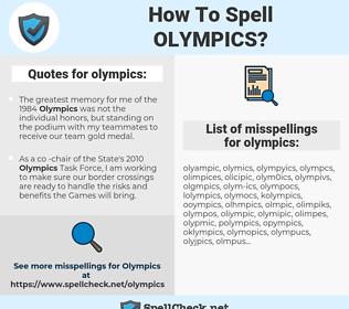 olympics, spellcheck olympics, how to spell olympics, how do you spell olympics, correct spelling for olympics