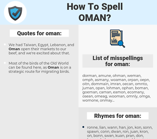 oman, spellcheck oman, how to spell oman, how do you spell oman, correct spelling for oman