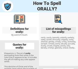 orally, spellcheck orally, how to spell orally, how do you spell orally, correct spelling for orally