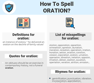 oration, spellcheck oration, how to spell oration, how do you spell oration, correct spelling for oration