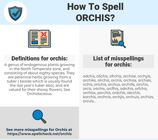 orchis, spellcheck orchis, how to spell orchis, how do you spell orchis, correct spelling for orchis