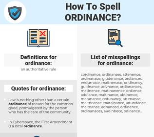 ordinance, spellcheck ordinance, how to spell ordinance, how do you spell ordinance, correct spelling for ordinance