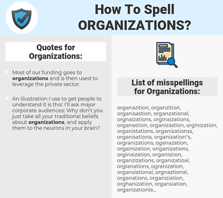 Organizations, spellcheck Organizations, how to spell Organizations, how do you spell Organizations, correct spelling for Organizations