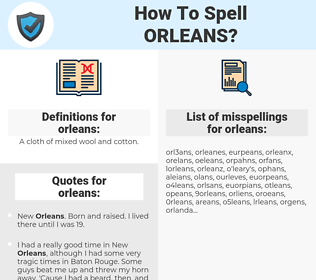 orleans, spellcheck orleans, how to spell orleans, how do you spell orleans, correct spelling for orleans