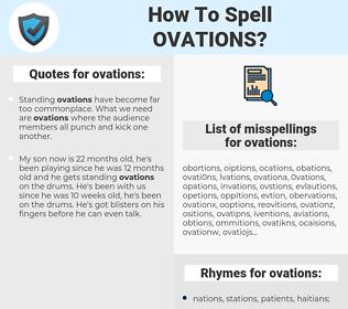 ovations, spellcheck ovations, how to spell ovations, how do you spell ovations, correct spelling for ovations