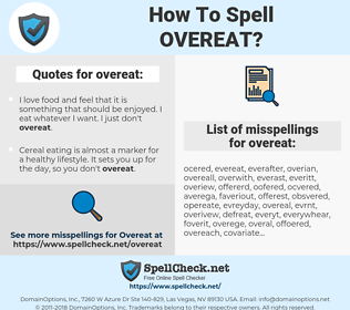 overeat, spellcheck overeat, how to spell overeat, how do you spell overeat, correct spelling for overeat