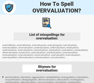 overvaluation, spellcheck overvaluation, how to spell overvaluation, how do you spell overvaluation, correct spelling for overvaluation