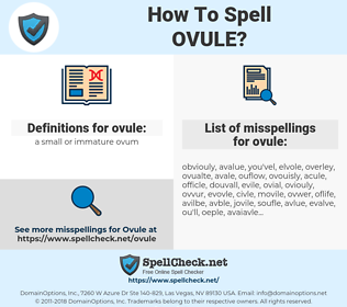 ovule, spellcheck ovule, how to spell ovule, how do you spell ovule, correct spelling for ovule