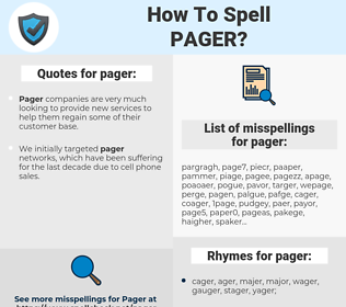 pager, spellcheck pager, how to spell pager, how do you spell pager, correct spelling for pager
