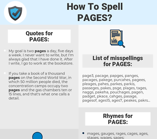 PAGES, spellcheck PAGES, how to spell PAGES, how do you spell PAGES, correct spelling for PAGES
