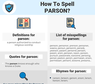 parson, spellcheck parson, how to spell parson, how do you spell parson, correct spelling for parson