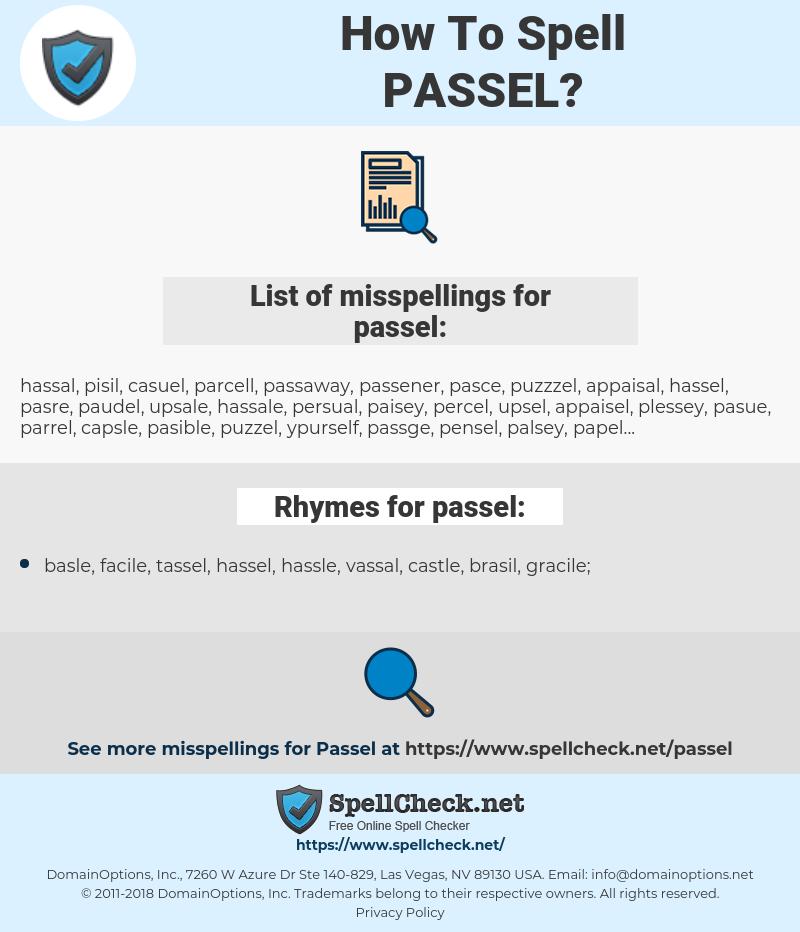 passel, spellcheck passel, how to spell passel, how do you spell passel, correct spelling for passel
