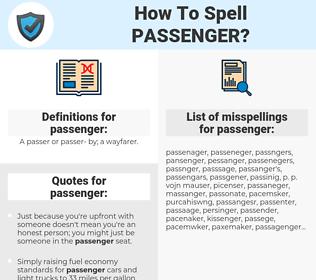 passenger, spellcheck passenger, how to spell passenger, how do you spell passenger, correct spelling for passenger