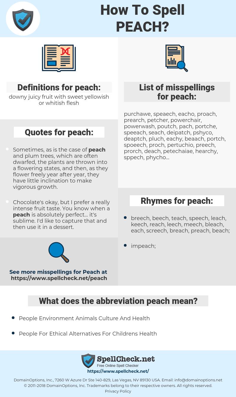 peach, spellcheck peach, how to spell peach, how do you spell peach, correct spelling for peach