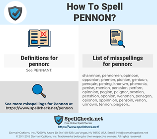 pennon, spellcheck pennon, how to spell pennon, how do you spell pennon, correct spelling for pennon