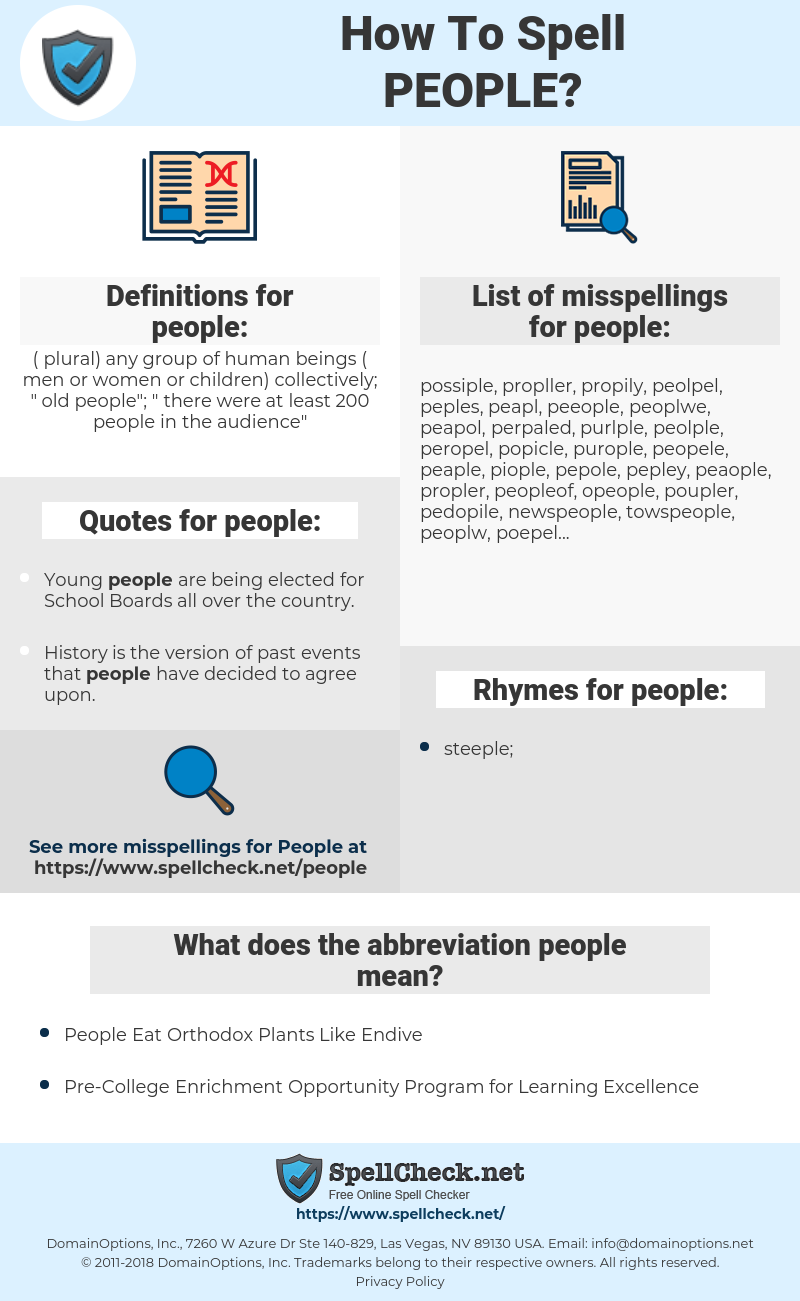 people, spellcheck people, how to spell people, how do you spell people, correct spelling for people