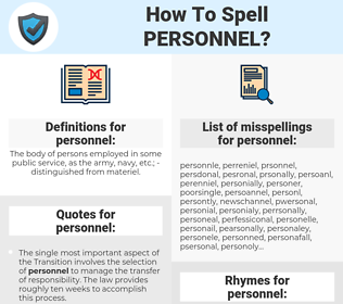 personnel, spellcheck personnel, how to spell personnel, how do you spell personnel, correct spelling for personnel