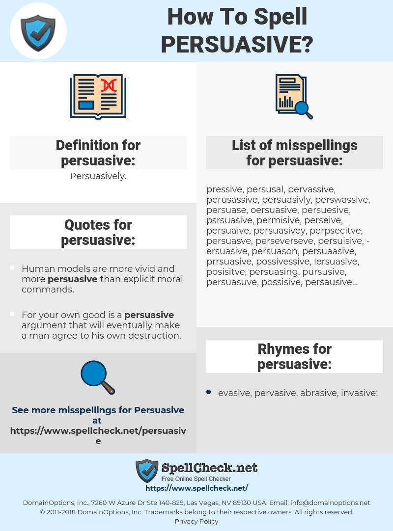 persuasive argument definition