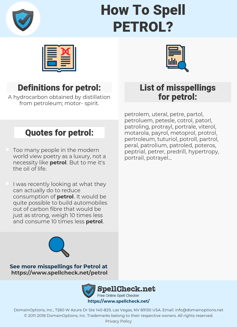 petrol, spellcheck petrol, how to spell petrol, how do you spell petrol, correct spelling for petrol