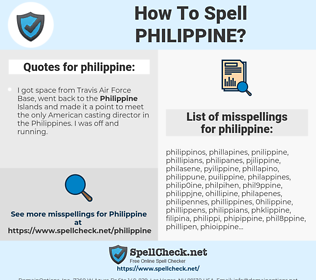 philippine, spellcheck philippine, how to spell philippine, how do you spell philippine, correct spelling for philippine