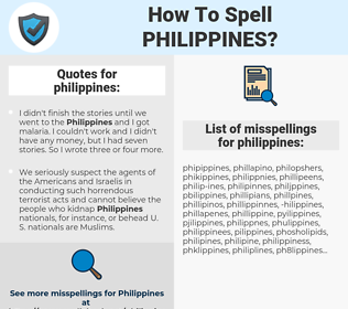 philippines, spellcheck philippines, how to spell philippines, how do you spell philippines, correct spelling for philippines