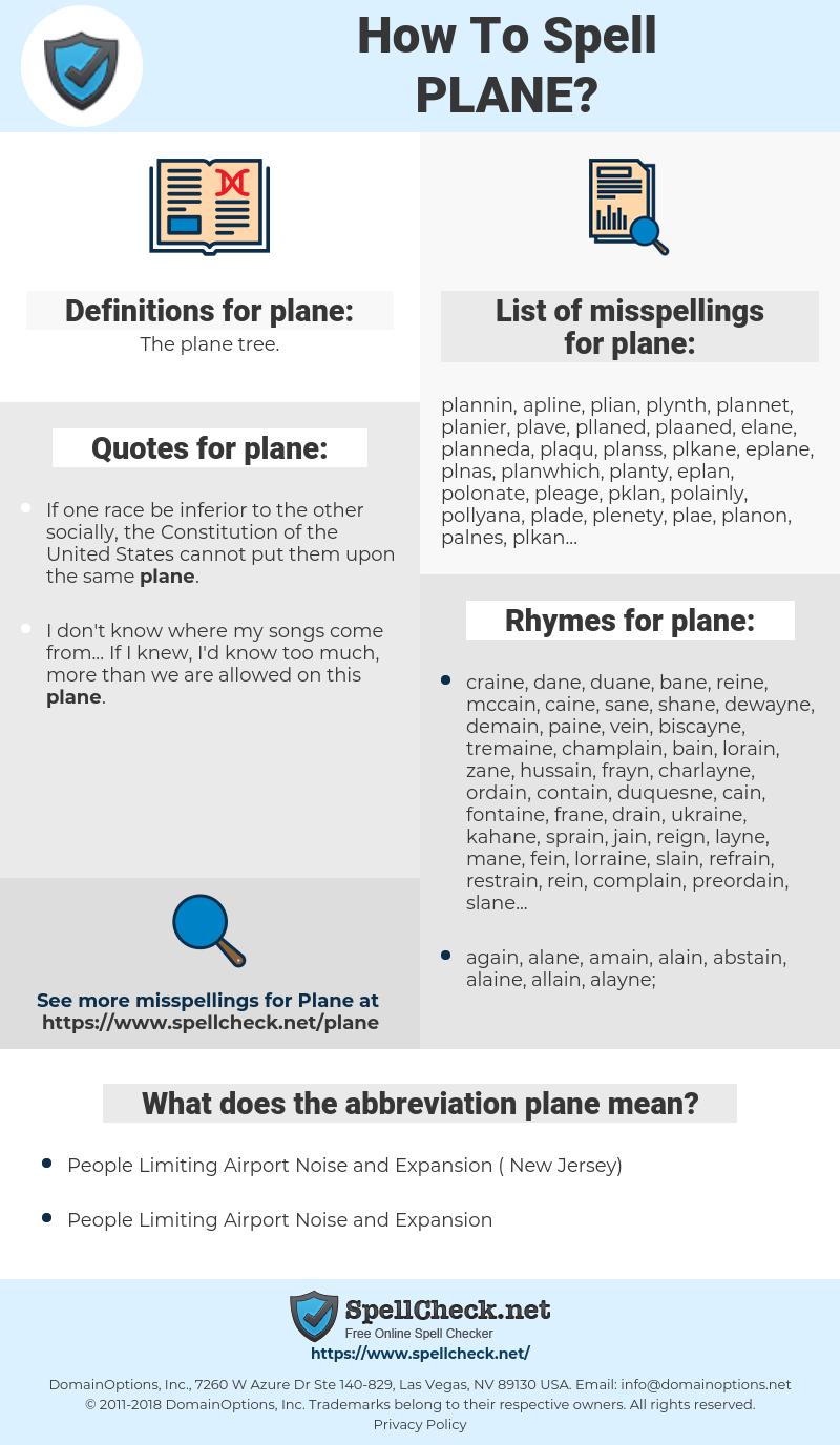 plane, spellcheck plane, how to spell plane, how do you spell plane, correct spelling for plane