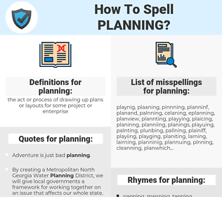 planning, spellcheck planning, how to spell planning, how do you spell planning, correct spelling for planning