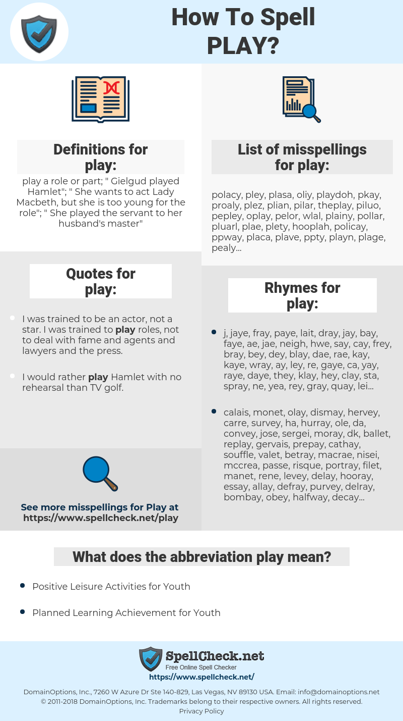 play, spellcheck play, how to spell play, how do you spell play, correct spelling for play