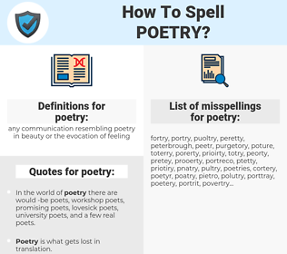 poetry, spellcheck poetry, how to spell poetry, how do you spell poetry, correct spelling for poetry