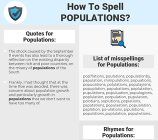 Populations, spellcheck Populations, how to spell Populations, how do you spell Populations, correct spelling for Populations