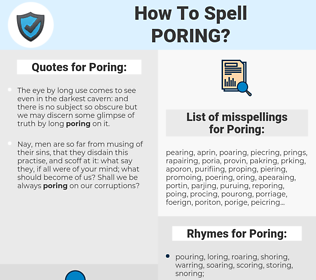 Poring, spellcheck Poring, how to spell Poring, how do you spell Poring, correct spelling for Poring
