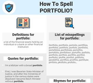 portfolio, spellcheck portfolio, how to spell portfolio, how do you spell portfolio, correct spelling for portfolio