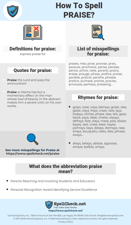 praise, spellcheck praise, how to spell praise, how do you spell praise, correct spelling for praise