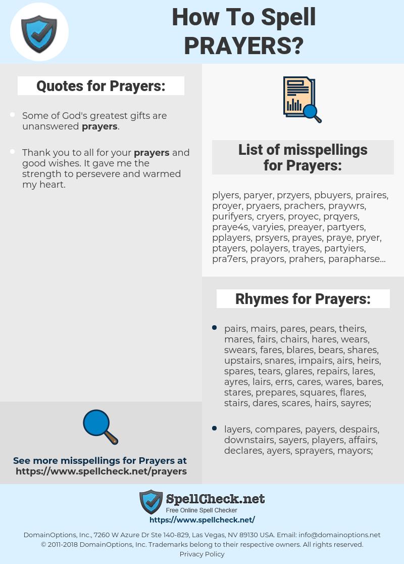 Prayers, spellcheck Prayers, how to spell Prayers, how do you spell Prayers, correct spelling for Prayers