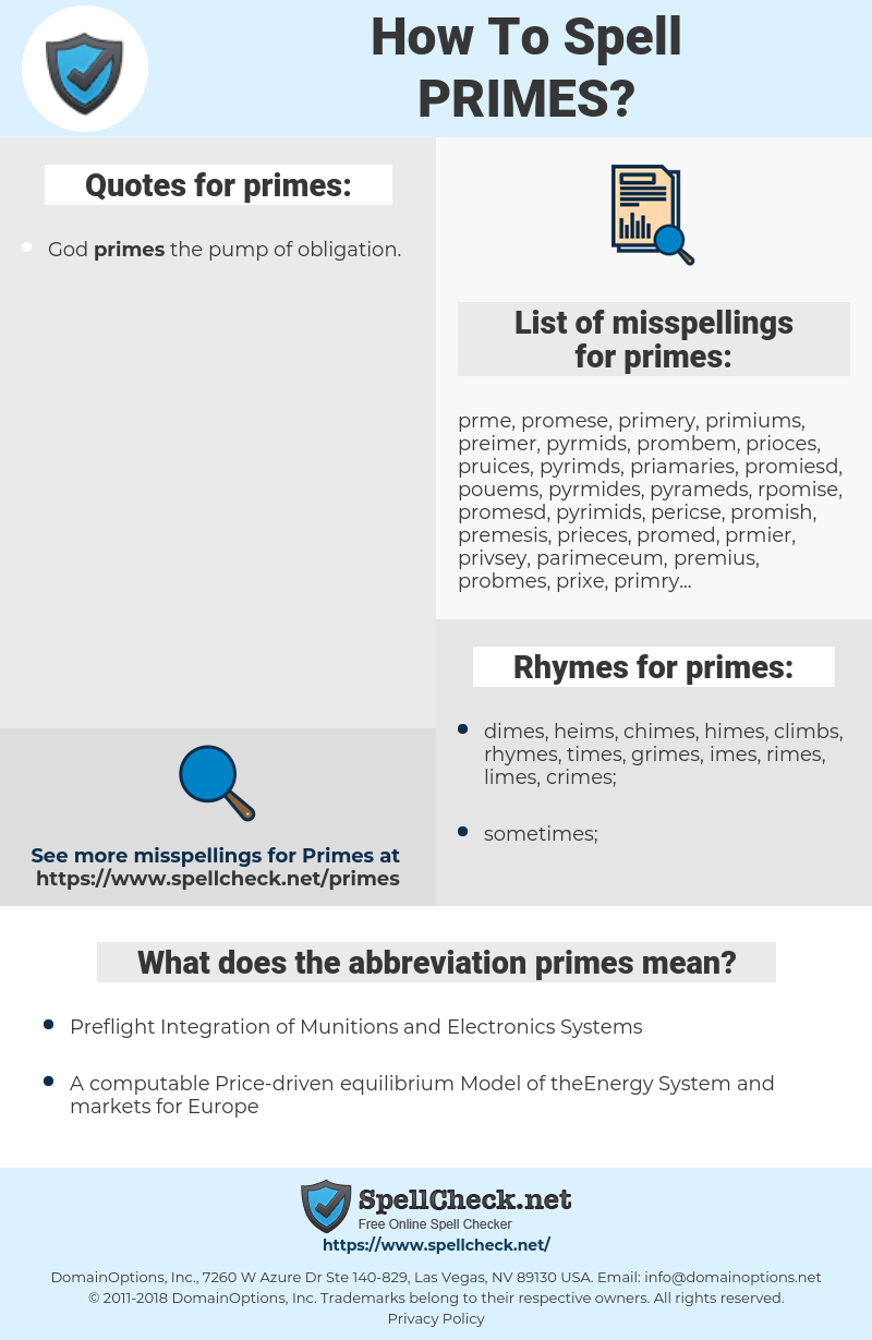primes, spellcheck primes, how to spell primes, how do you spell primes, correct spelling for primes